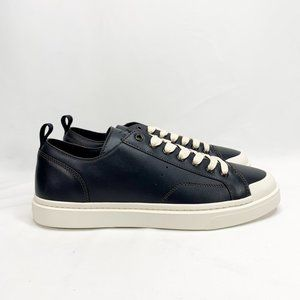 COACH C114 Lo Top Sneaker Navy 13 D Mens Leather